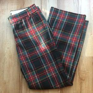 J Crew Plaid Wool Pants